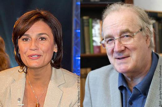 Sandra Maischberger und Sten Nadolny