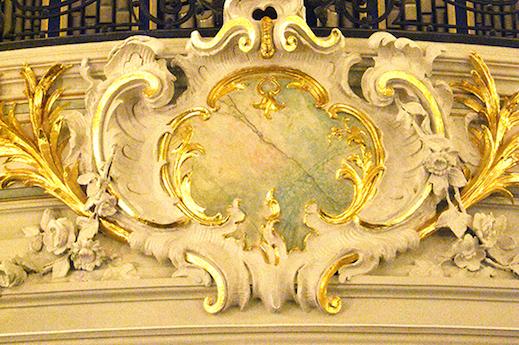 Sophienkirche, Detail an der Orgelempore