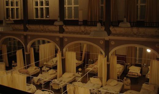 """Dreharbeiten für """"Vom Glück nur ein Schatten"""" mit Maria Furtwängler, Villa Elisabeth 2010"""